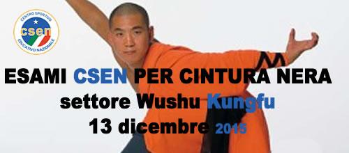 Esami CSEN per Cintura Nera wushu Kung Fu